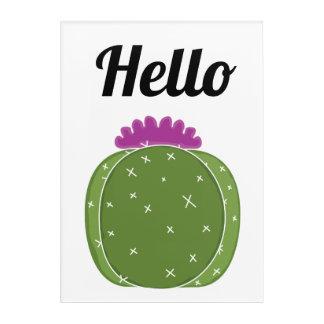Bonjour art d'acrylique de cactus
