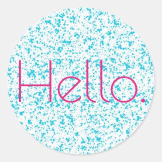 Bonjour autocollants dalmatiens bleus d'impression