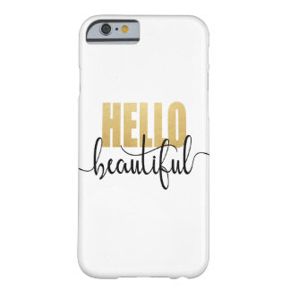 Bonjour beau noir et or coque barely there iPhone 6