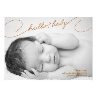 Bonjour bébé - faire-part de naissance nouveau-né