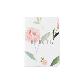 Bonjour belle aquarelle florale protège-passeports