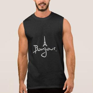 Bonjour (bonjour) Paris Tee-shirt Sans Manches