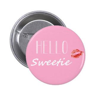 Bonjour bouton de bonbon badge rond 5 cm