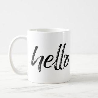 Bonjour - calligraphie noire lunatique mug