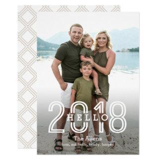 Bonjour carte arrière EDITABLE de nouvelle année