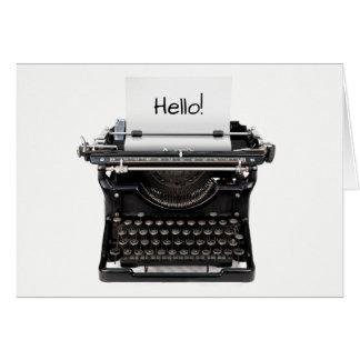 Bonjour carte d'amitié avec le blanc de machine à
