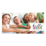 Bonjour carte photo 2014 de famille de bonne année photocartes personnalisées