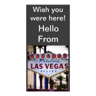 Bonjour carte postale de Las Vegas Nevada Photocartes Personnalisées