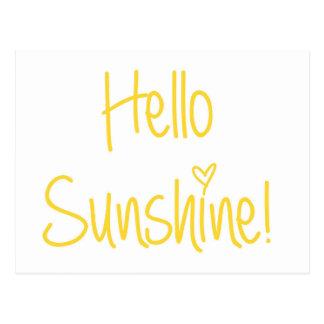 Bonjour carte postale de soleil