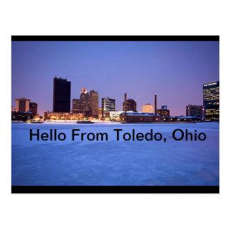 Bonjour carte postale de Toledo, Ohio