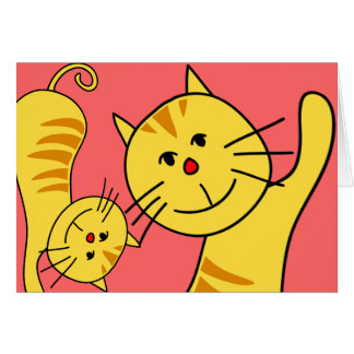 Bonjour carte vierge de chat