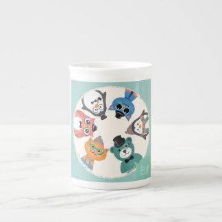 Bonjour ! Cercle animal d'amis Mug Porcelaine Anglaise