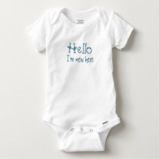 """""""Bonjour"""" chemise de bébé Body"""