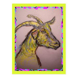 bonjour chèvre carte postale