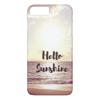 """Bonjour citation de photo de soleil"" Coque iPhone 7 Plus"