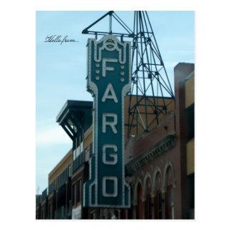 Bonjour de… Fargo, ND Carte Postale