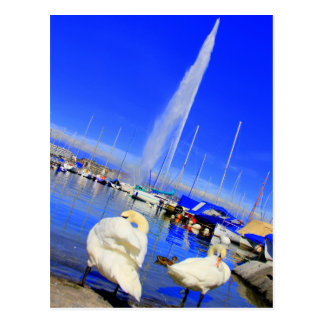 Bonjour de la carte postale de Genève
