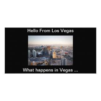 Bonjour de la carte postale de Vegas Photocarte Personnalisée