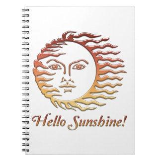 BONJOUR été de Sun d'amusement de SOLEIL Carnets À Spirale