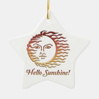 BONJOUR été de Sun d'amusement de SOLEIL Ornement Étoile En Céramique