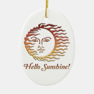 BONJOUR été de Sun d'amusement de SOLEIL Ornement Ovale En Céramique