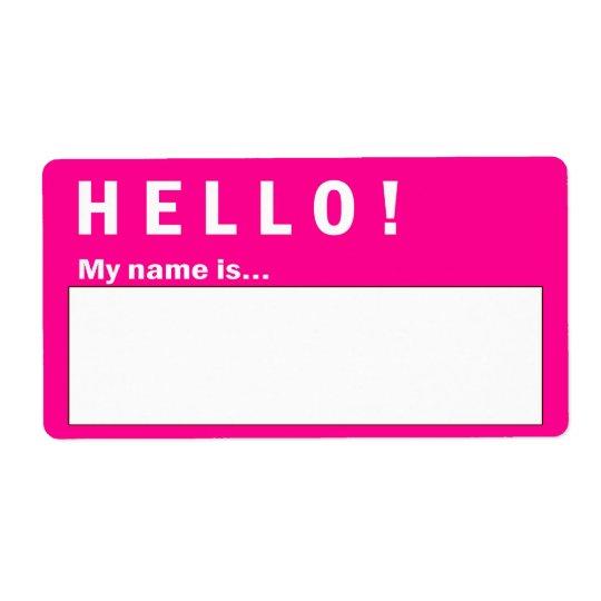 Bonjour étiquettes de badge nominatif d'insigne