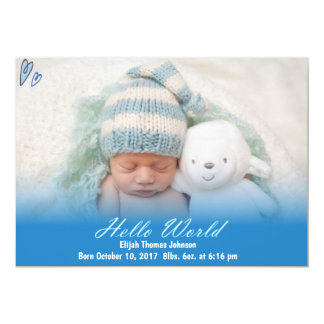 Bonjour faire-part de naissance de bébé du monde