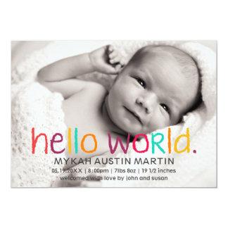 Bonjour faire-part de naissance de photo du monde
