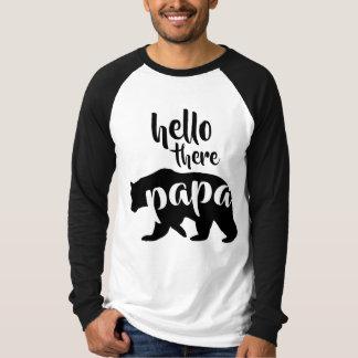 Bonjour là ours de papa t-shirt