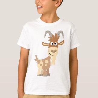 """""""Bonjour là !"""" T-shirt mignon d'enfants de chèvre"""
