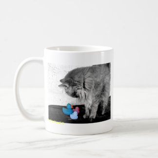 """""""Bonjour là tasse en caoutchouc de canard de Kitty"""