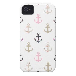 Bonjour marin Rétros ancres nautiques Girly vint Étui iPhone 4