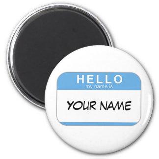 Bonjour mon nom est aimant