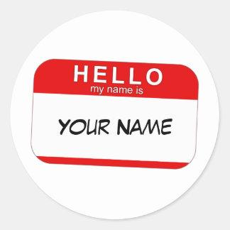 Bonjour mon nom est autocollant
