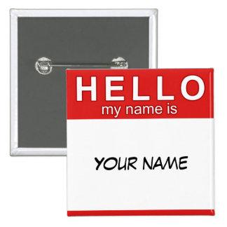 Bonjour mon nom est bouton badge