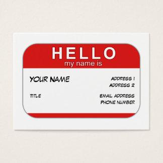 Bonjour mon nom est carte de profil