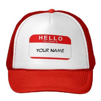 Bonjour mon nom est casquette