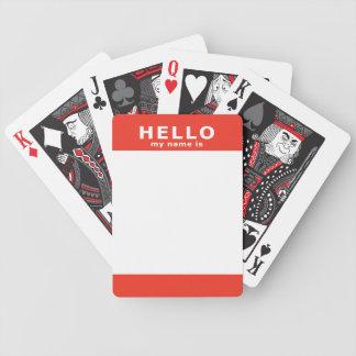 bonjour mon nom est : rouge cartes à jouer