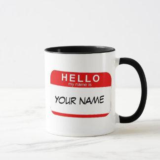 Bonjour mon nom est tasse
