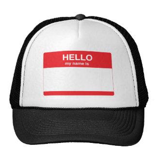 Bonjour, mon nom est (votre texte) casquette de camionneur