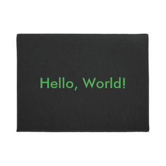 Bonjour, monde ! tapis de porte