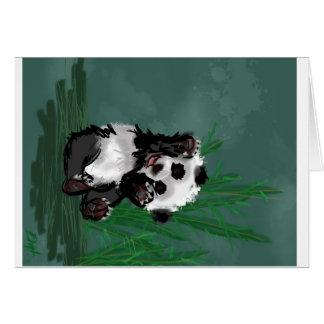 Bonjour panda carte de vœux