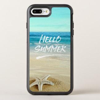 Bonjour plage de soleil d'étoiles de mer d'été coque otterbox symmetry pour iPhone 7 plus