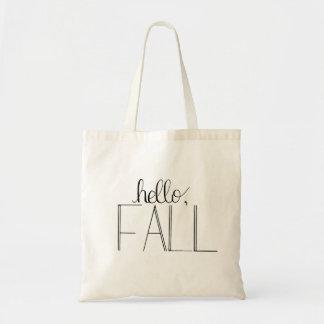 Bonjour sac fourre-tout en lettres à main