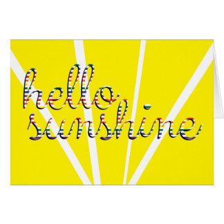 Bonjour soleil ! Carte de voeux