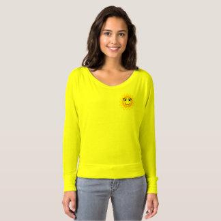Bonjour soleil jaune Flowy outre de T-shirt