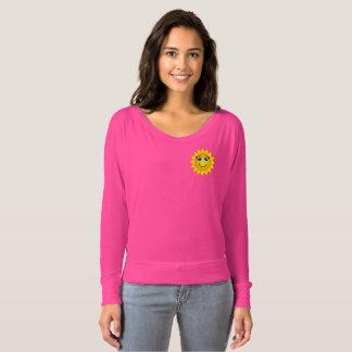Bonjour soleil rose Flowy outre de T-shirt