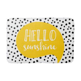 Bonjour tapis de bain jaune tacheté de soleil