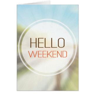 Bonjour week-end 2 carte de vœux