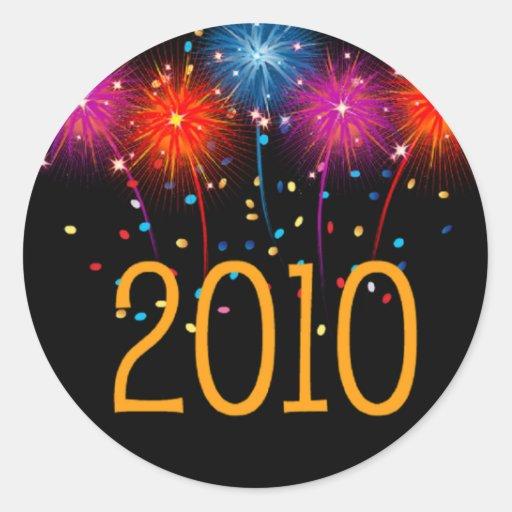 Bonne année 2010 d'autocollant